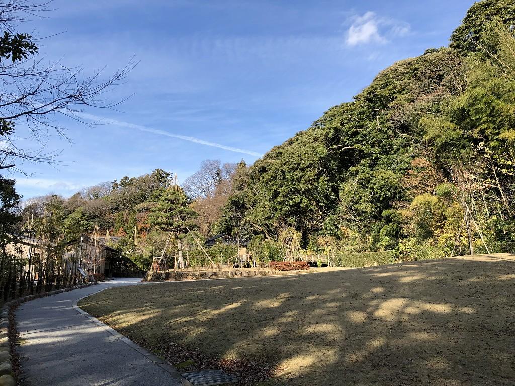 鈴木大拙館の隣の本多公園