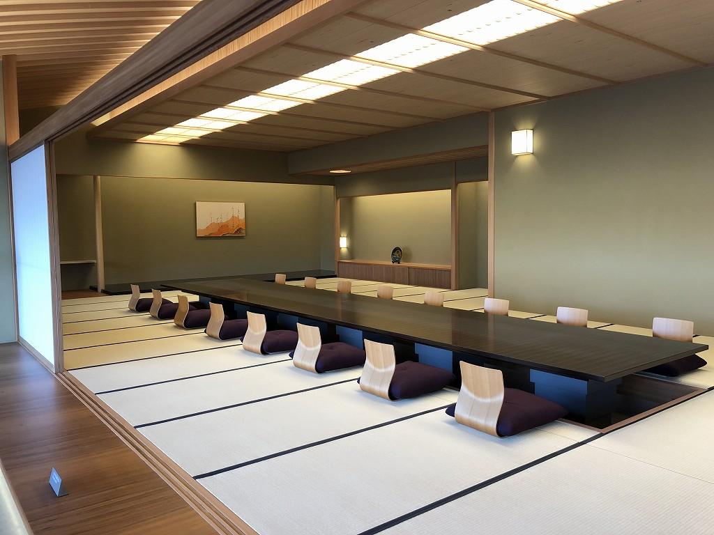 谷口吉郎・吉生記念 金沢建築館の迎賓館赤坂離宮和風別館「游心亭」の主和室1