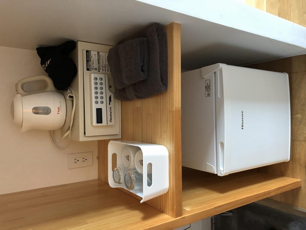 UNPLAN Kagurazakaの個室の冷蔵庫