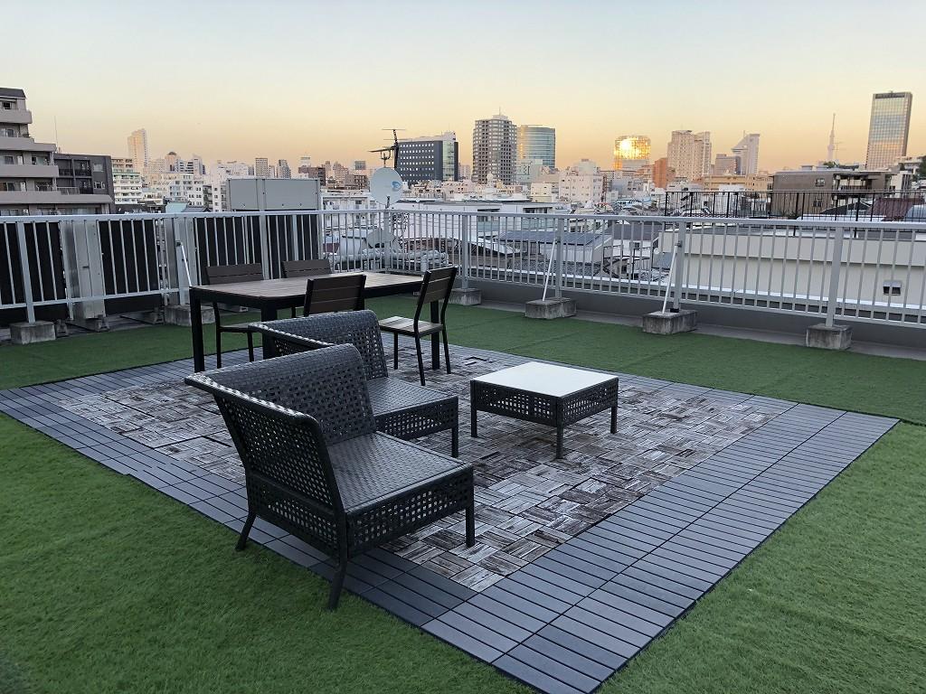 UNPLAN Kagurazakaの屋上スペース