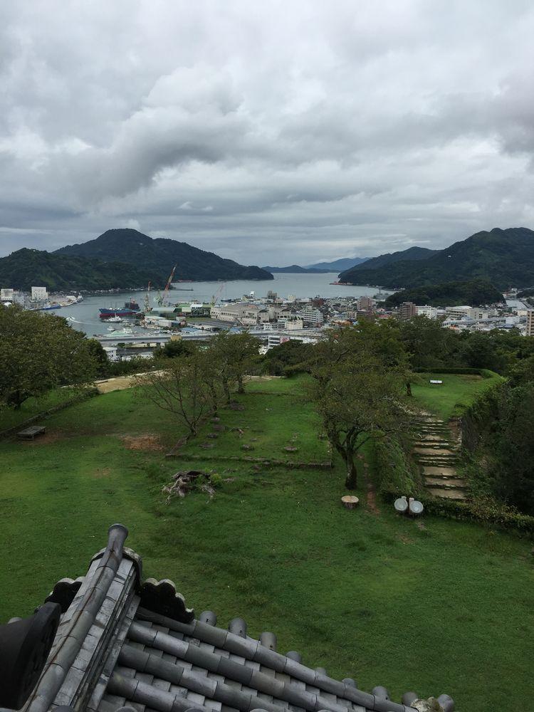 宇和島城から宇和島湾方面の眺め
