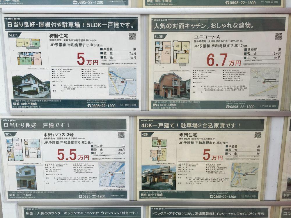宇和島駅前の不動産屋