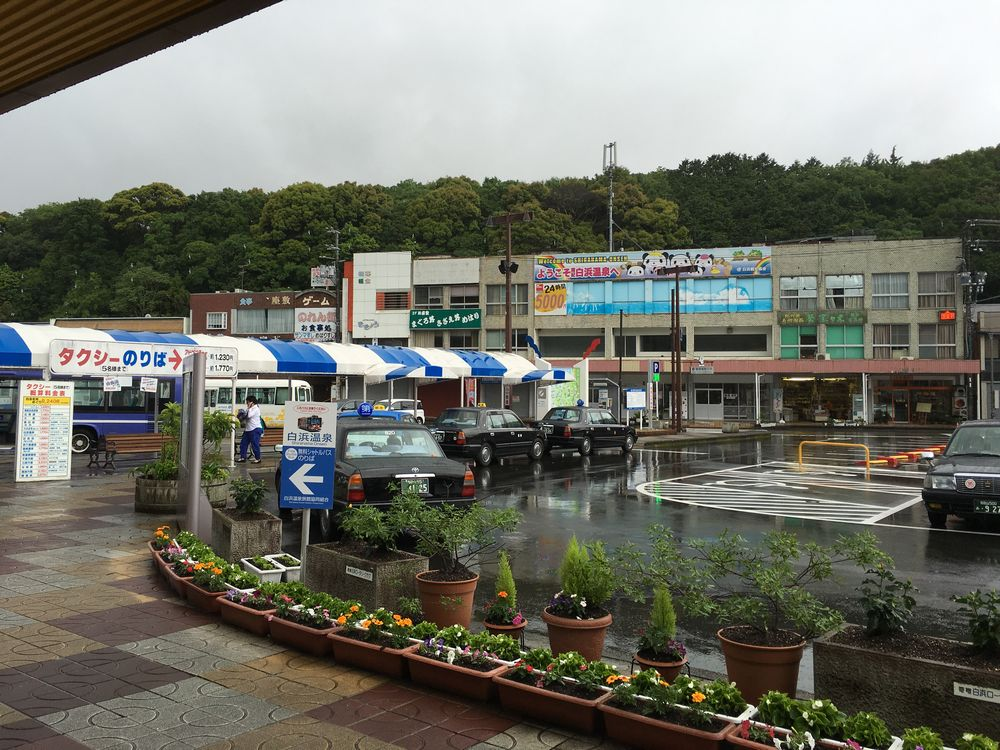 JR白浜駅前の風景2