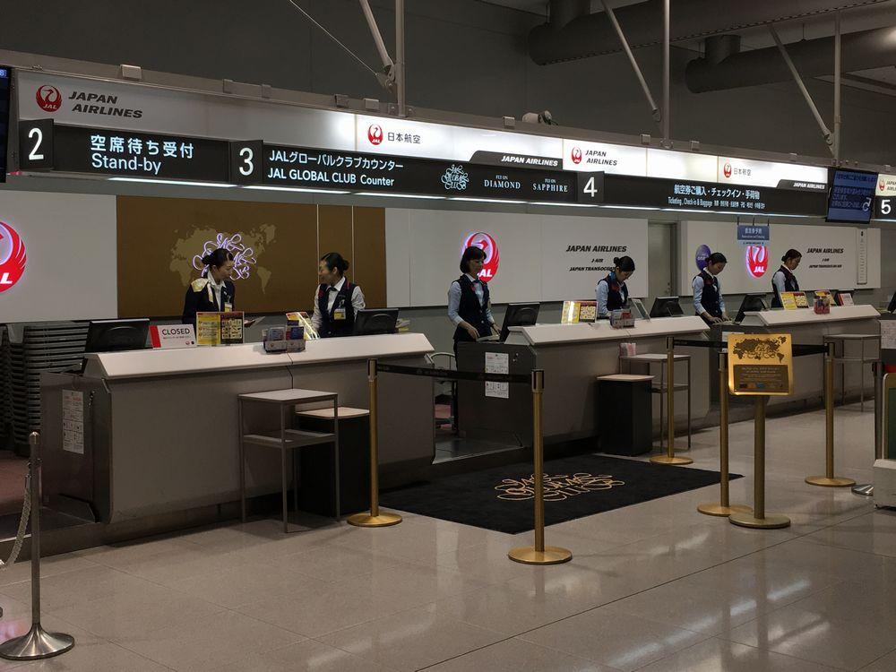 関西空港の第1ターミナルのJGCカウンター