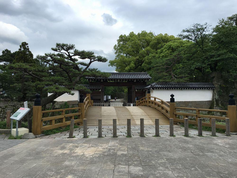 和歌山城の大手門と一の橋