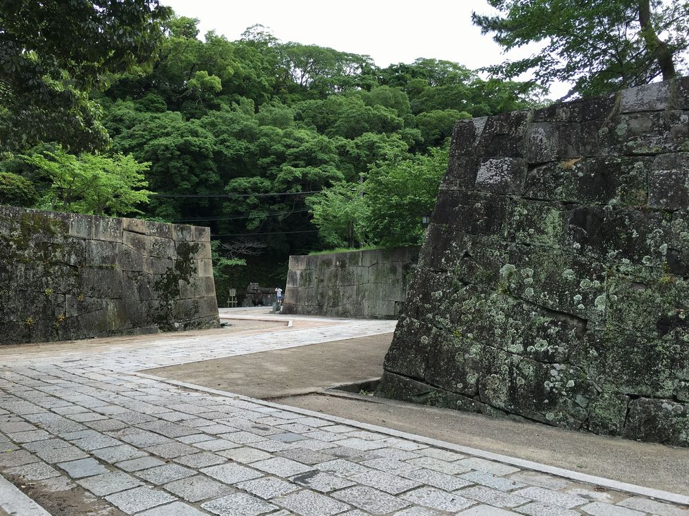 和歌山城の石垣のヘアピン