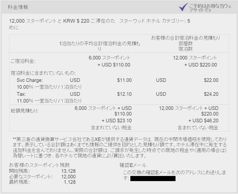 ウェスティン朝鮮ホテルソウルの宿泊料金