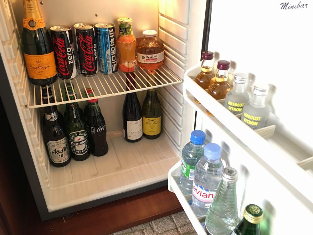 ウェスティン朝鮮ソウルの冷蔵庫内