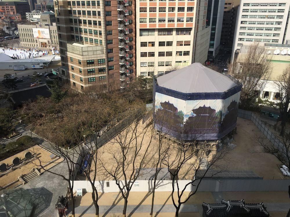 ウェスティン朝鮮ソウルの部屋から見た圜丘壇