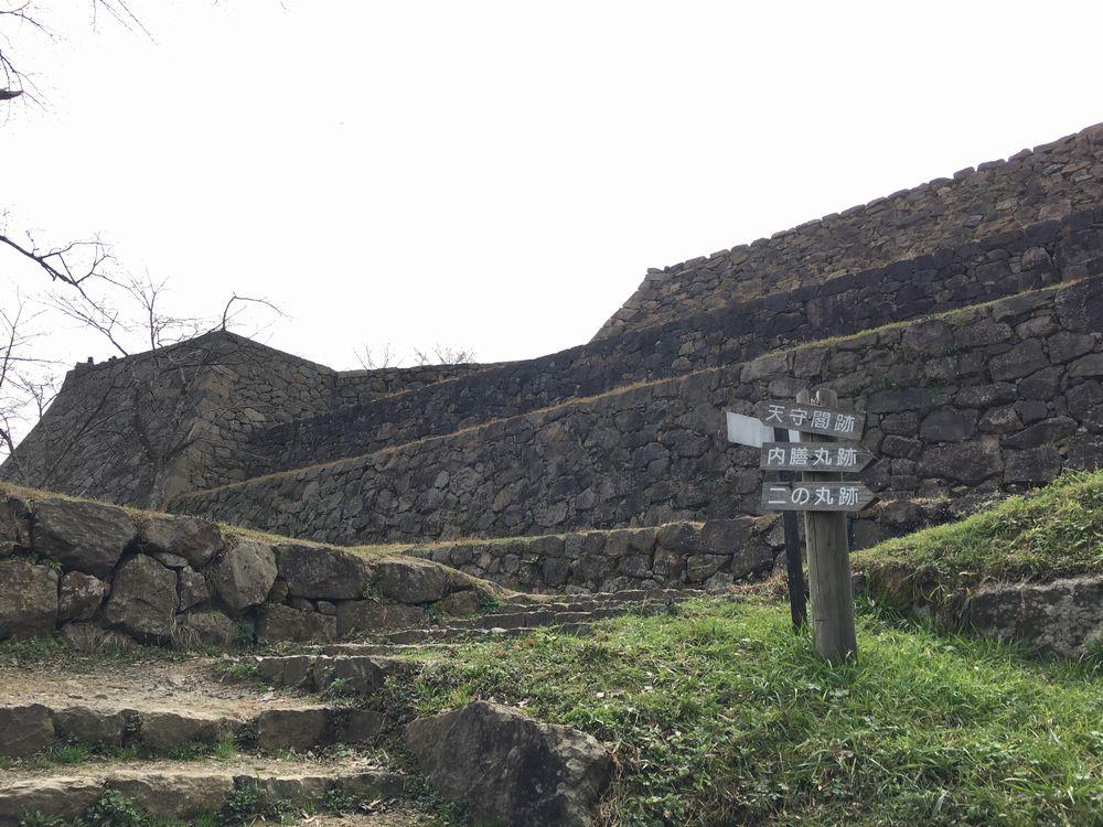 米子城跡の石垣