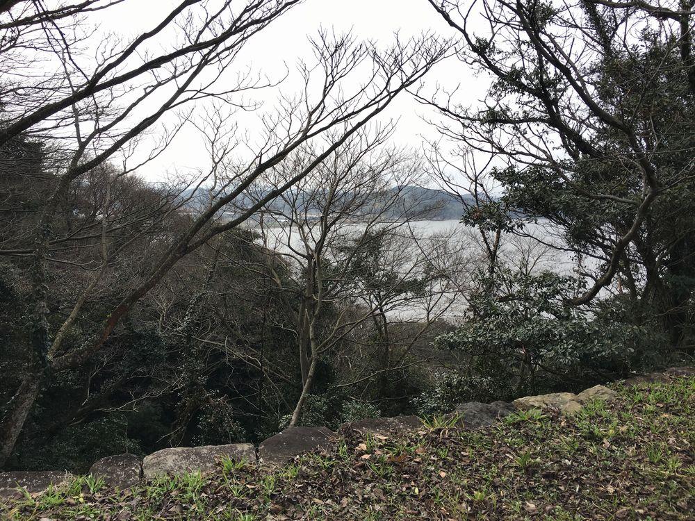 米子城跡の遠見櫓からの眺め
