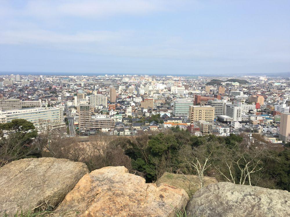 米子城跡の本丸跡からの眺め1