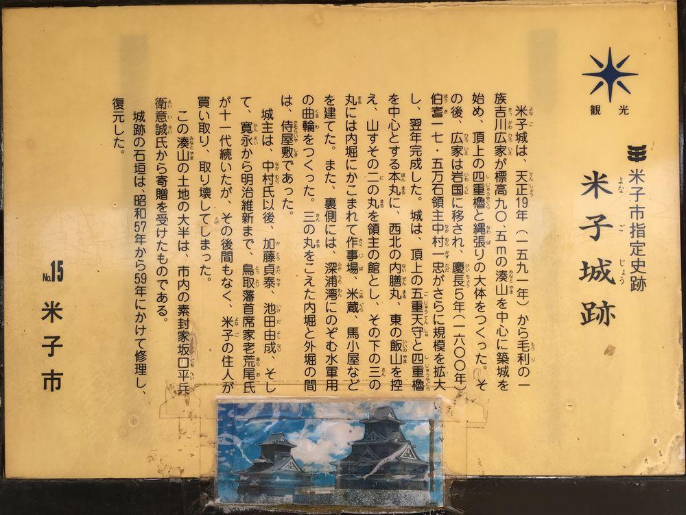 米子城の案内