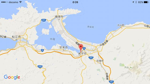 米子城の地図