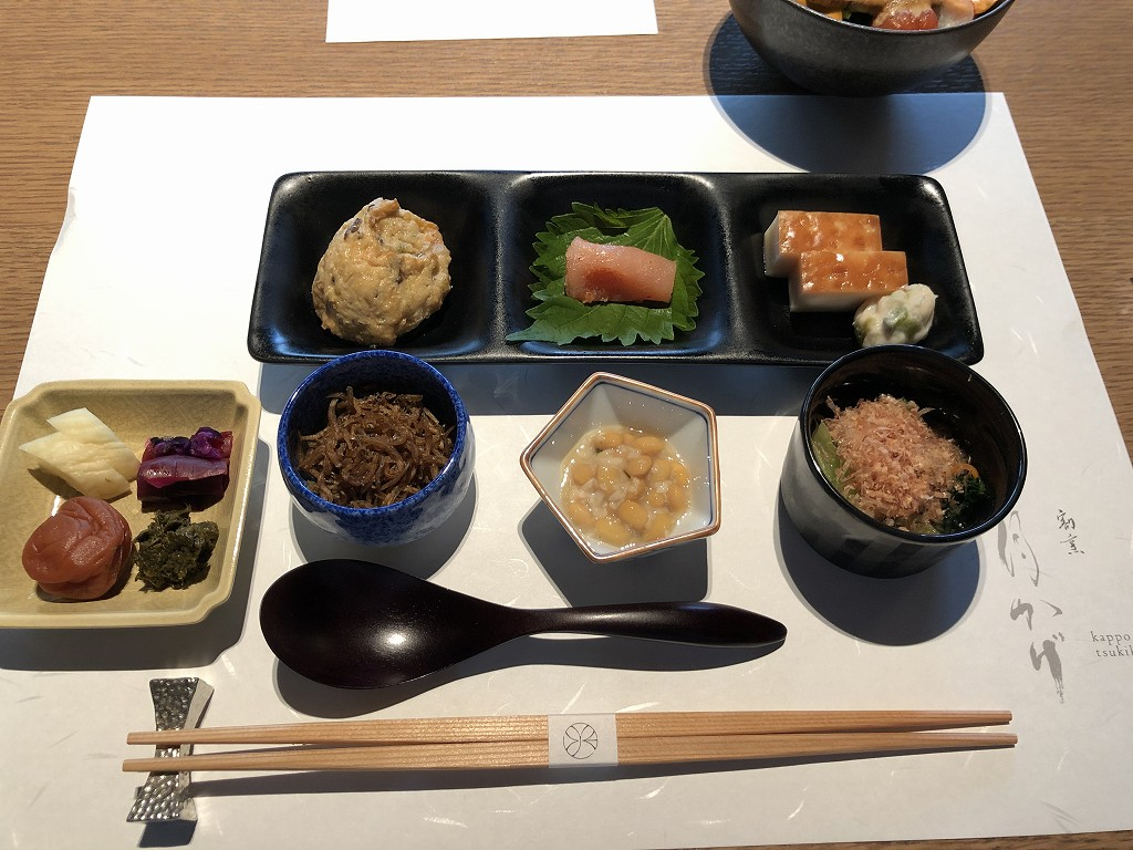 由縁別邸 代田の朝食の前菜
