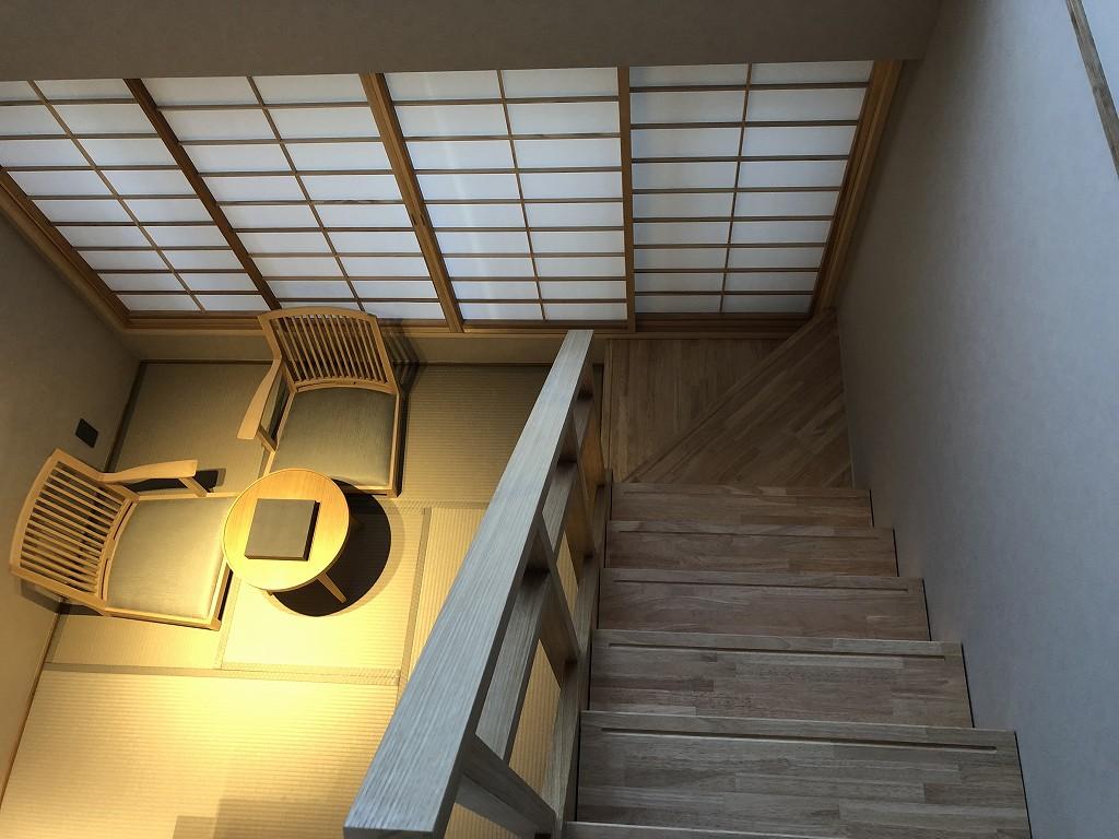 由縁別邸 代田のメゾネットルームの内観5