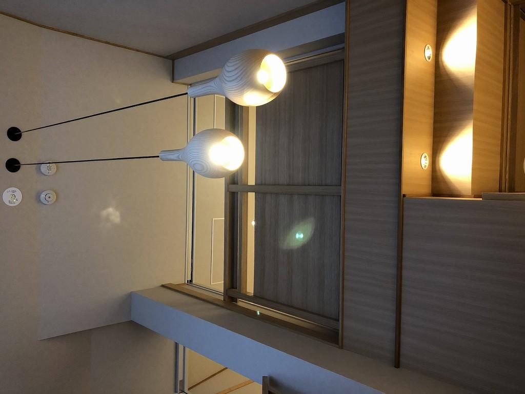 由縁別邸 代田のメゾネットルームの天井灯