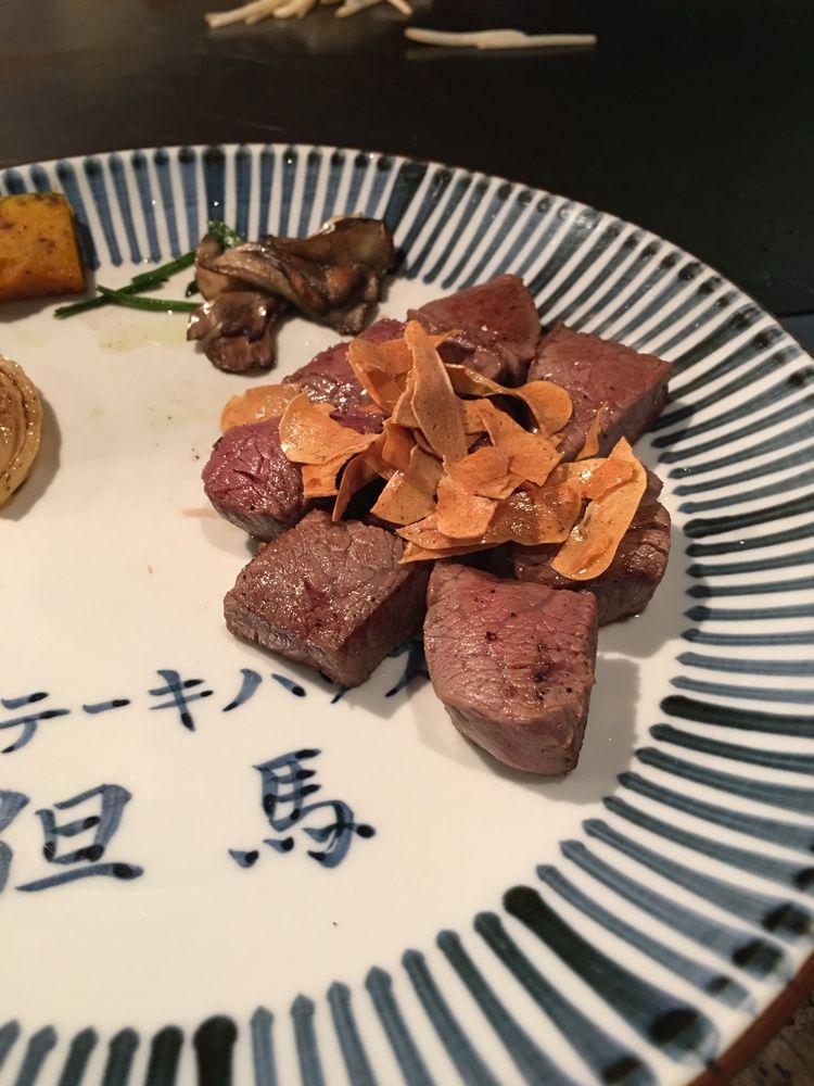松山のステーキハウス但馬の牛ステーキ