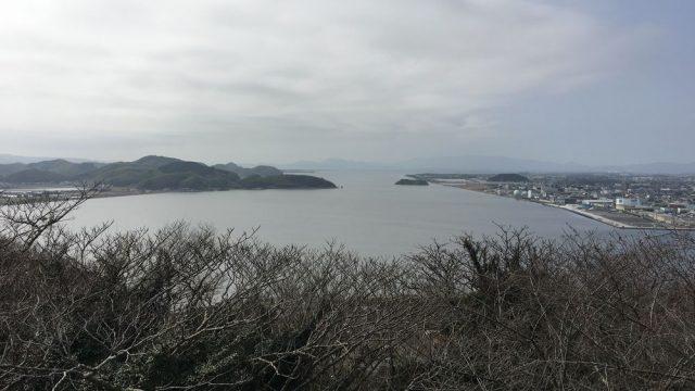 米子城跡から中海