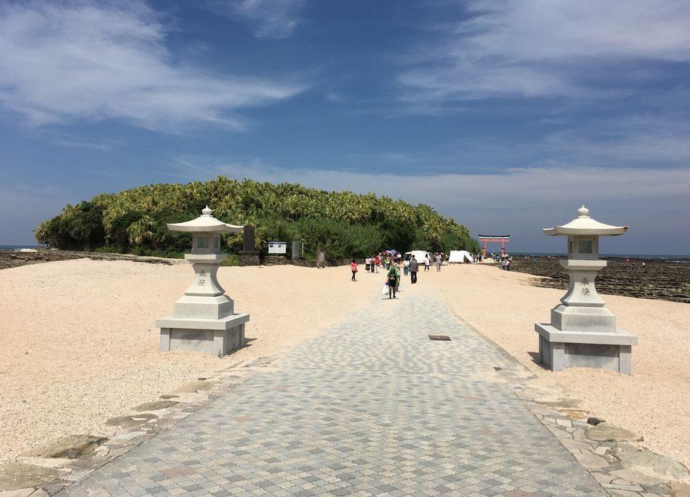 宮崎の青島神社の参道