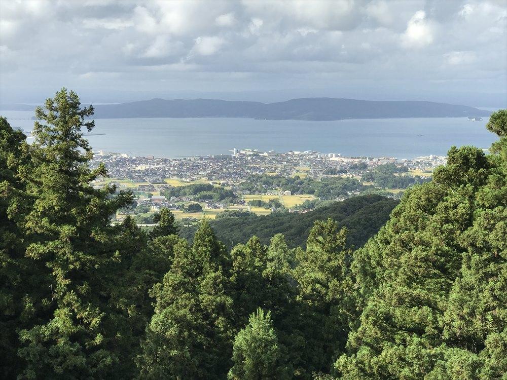 七尾城跡から七尾湾