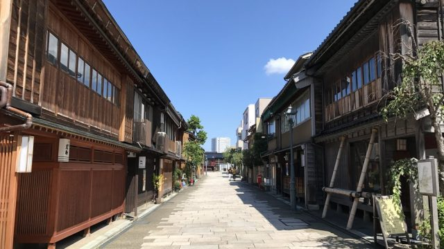 金沢のにし茶屋街