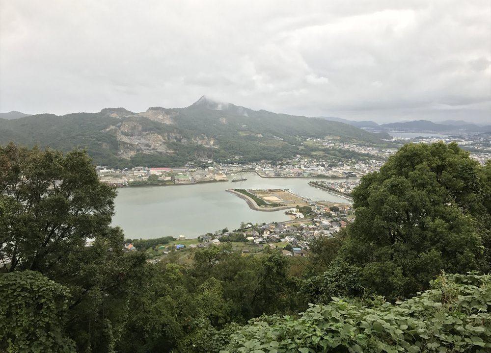 屋島寺へ行って、源平古戦場を眺める