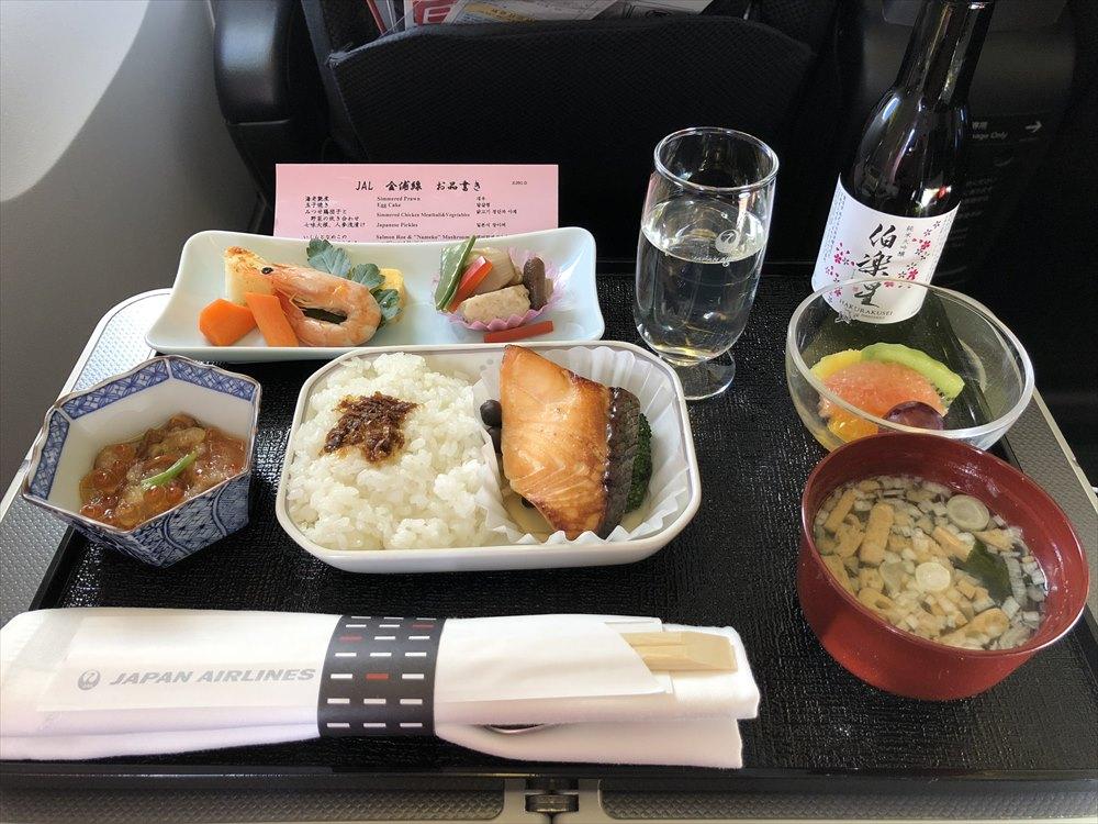 羽田-金浦(JAL91)ビジネスクラスの機内食