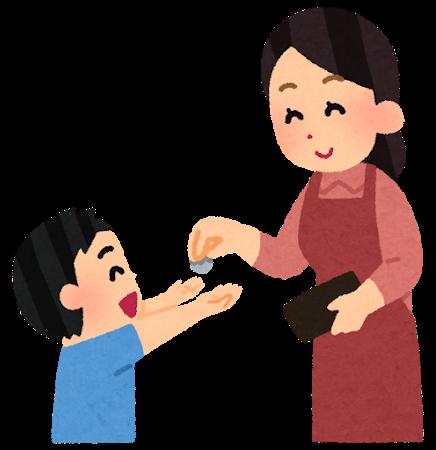 子供へのお小遣い支給