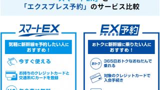 「エクスプレス予約」と「スマートEX」の違い