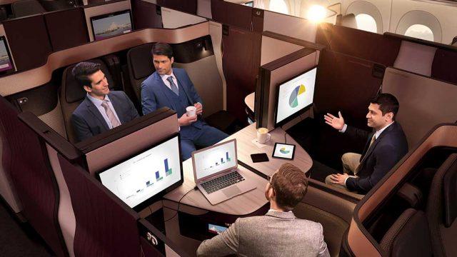 カタール航空のQsuiteビジネスクラス特典航空券発券