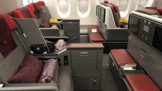 カタール航空のQR145便ビジネスクラス
