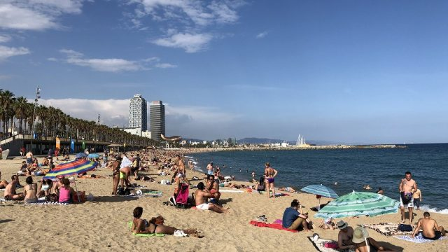 バルセロネータのビーチ