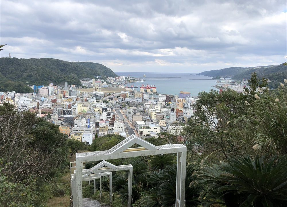 奄美のおがみ山公園からの眺め