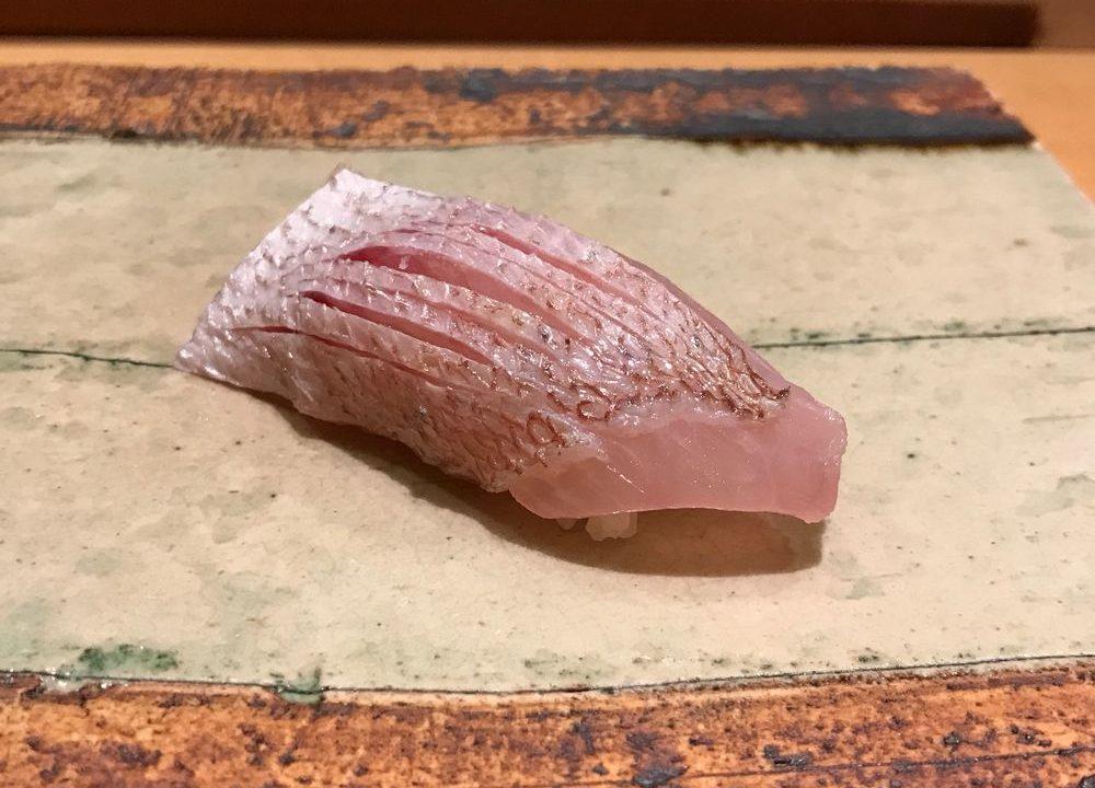 宮崎の一心鮨光洋の春子鯛