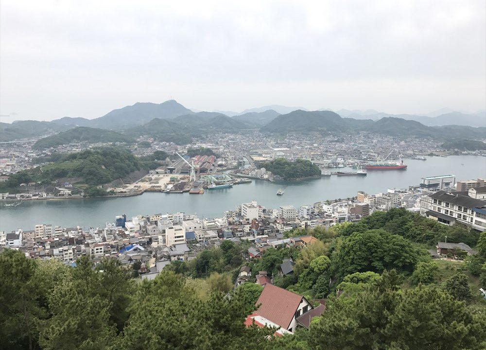 尾道の千光寺公園から向島