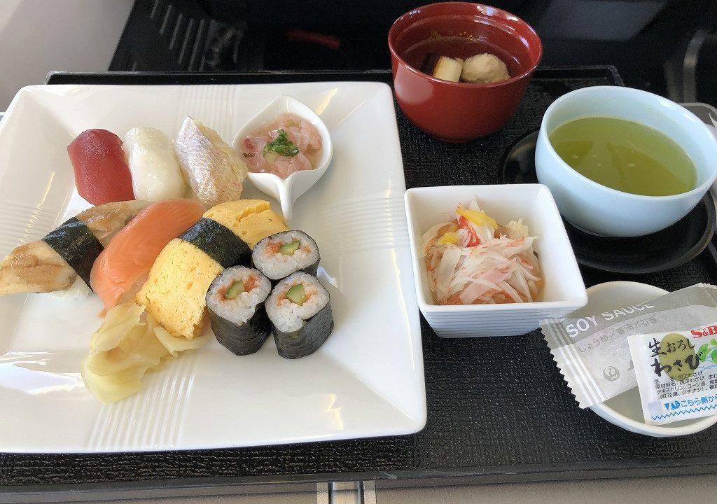JAL957便ビジネスクラスの機内食