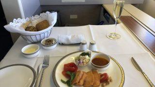 タイ国際航空(TG660便)B747ファーストクラスの機内食