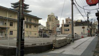 本願寺富山西別院の土塁の名残
