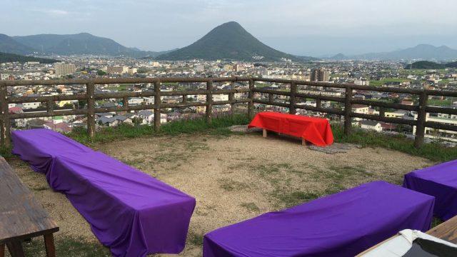 丸亀城の月見櫓から讃岐富士
